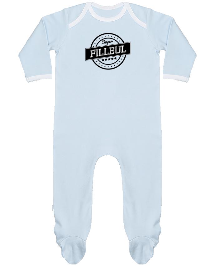 Pyjama Bébé Manches Longues Contrasté Super filleul par justsayin