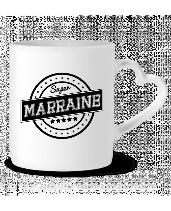 Mug Coeur Super marraine par justsayin