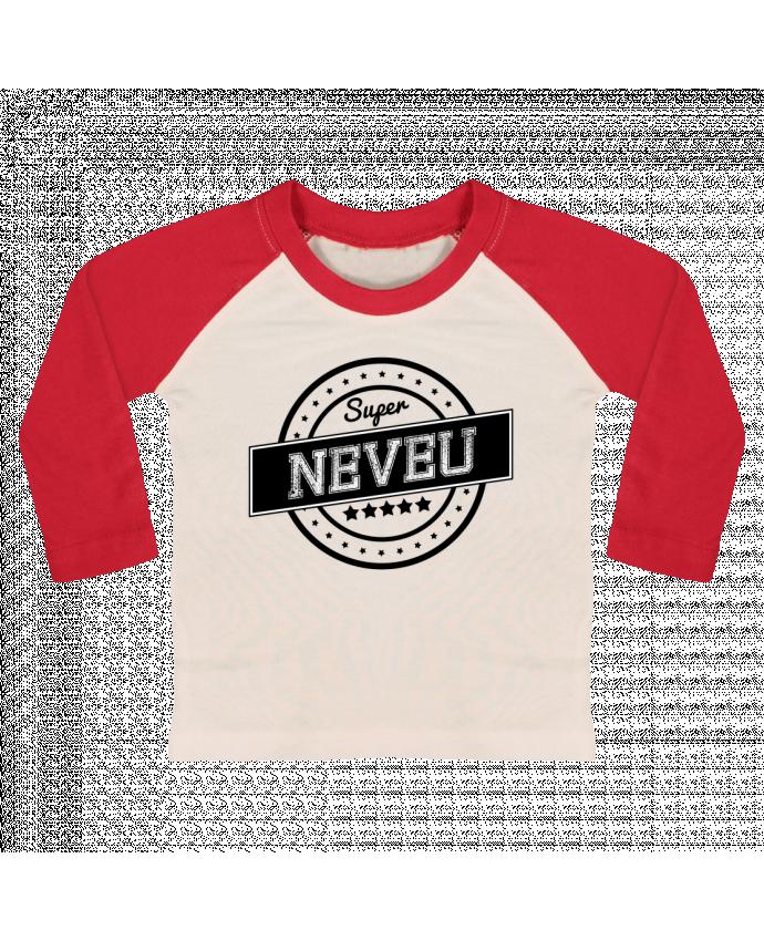 T-shirt Bébé Baseball Manches Longues Super neveu par justsayin
