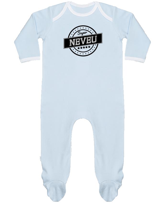 Pyjama Bébé Manches Longues Contrasté Super neveu par justsayin