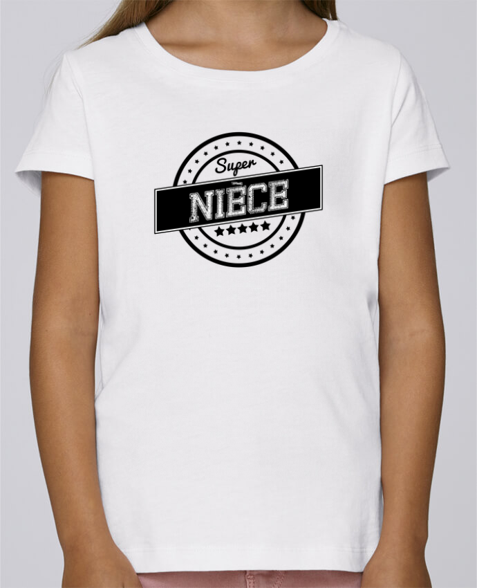 T-shirt Fille Mini Stella Draws Super nièce par justsayin