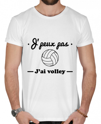 T-shirt  Homme 180g J'peux pas j'ai volley , volleyball, volley-ball par Benichan