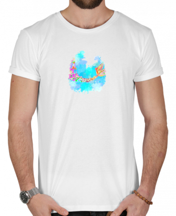 T-shirt  Homme 180g Watercolor Mermaid par PinkGlitter