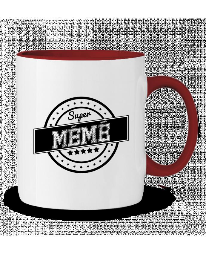 Mug en Céramique Bicolore Super mémé justsayin
