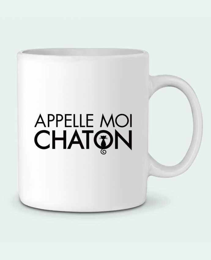 Mug en Céramique Appelle moi Chaton par Freeyourshirt.com