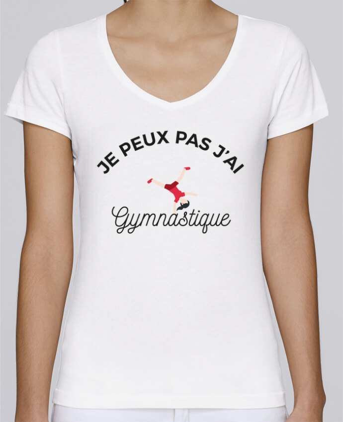 T-shirt Femme Col V Stella Chooses Je peux pas j'ai gymnastique par Ruuud