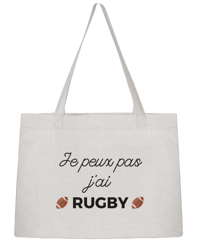 Sac Cabas Shopping Stanley Stella Je peux pas j'ai Rugby par Ruuud