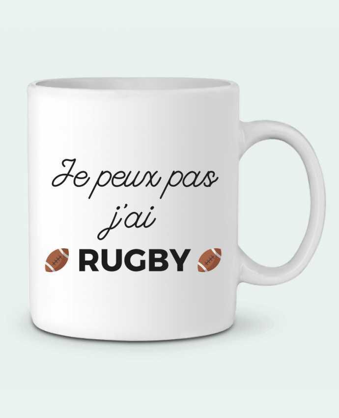 Mug en Céramique Je peux pas j'ai Rugby par Ruuud