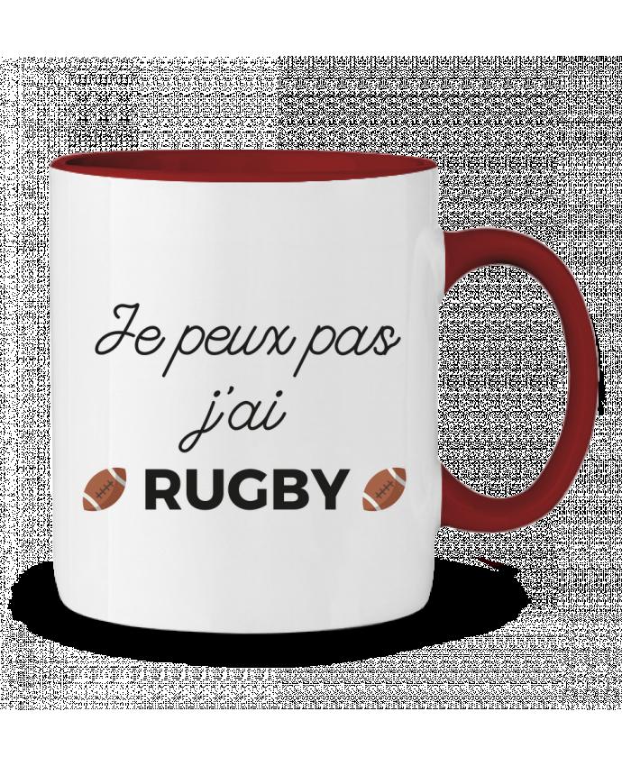 Mug en Céramique Bicolore Je peux pas j'ai Rugby Ruuud