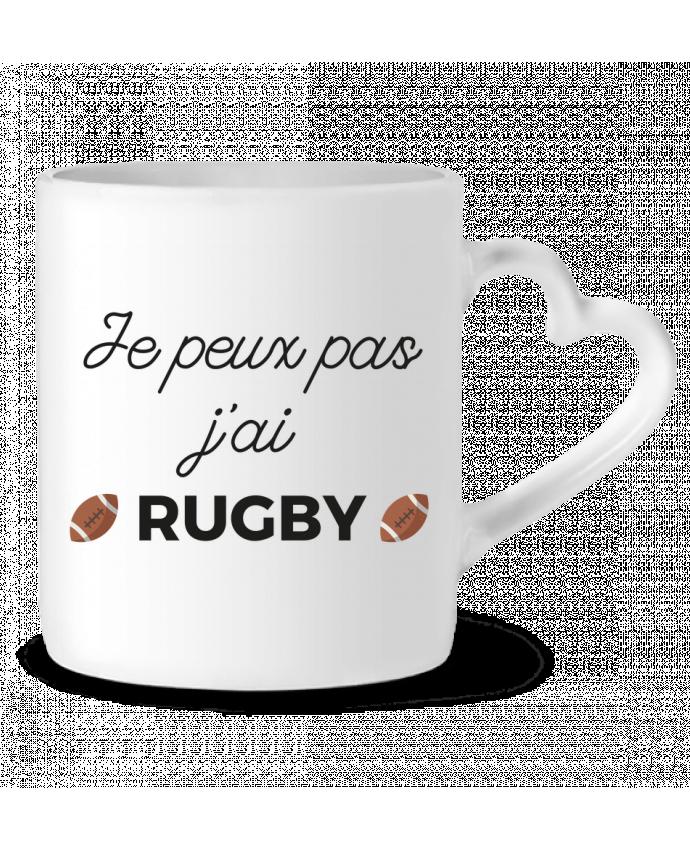 Mug Coeur Je peux pas j'ai Rugby par Ruuud