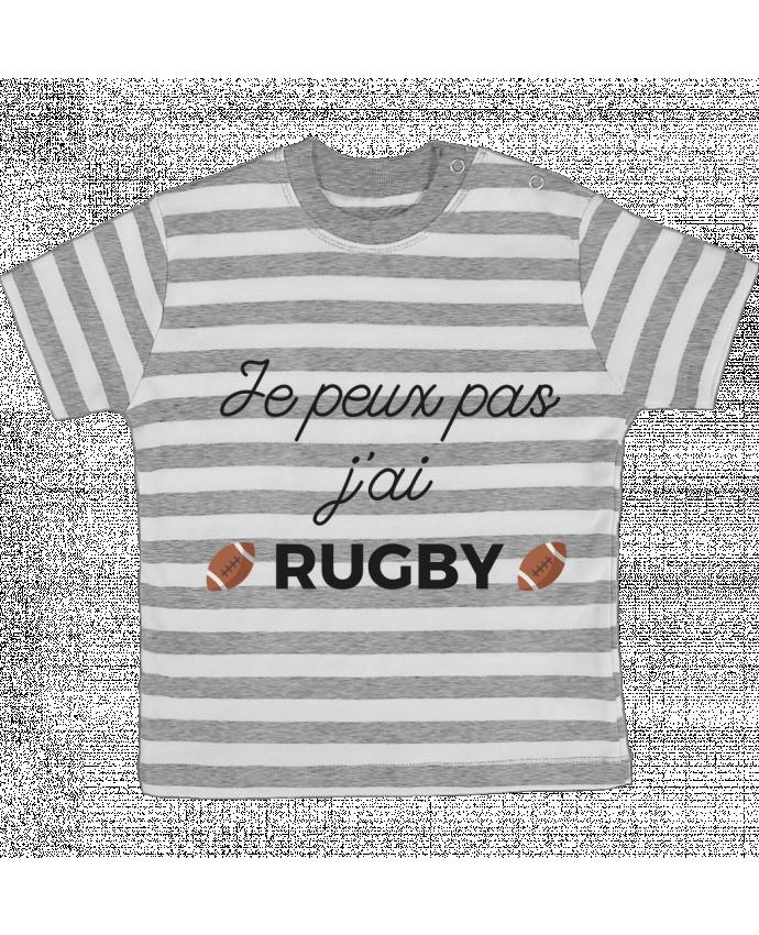 T-shirt Bébé à Rayures Je peux pas j'ai Rugby par Ruuud