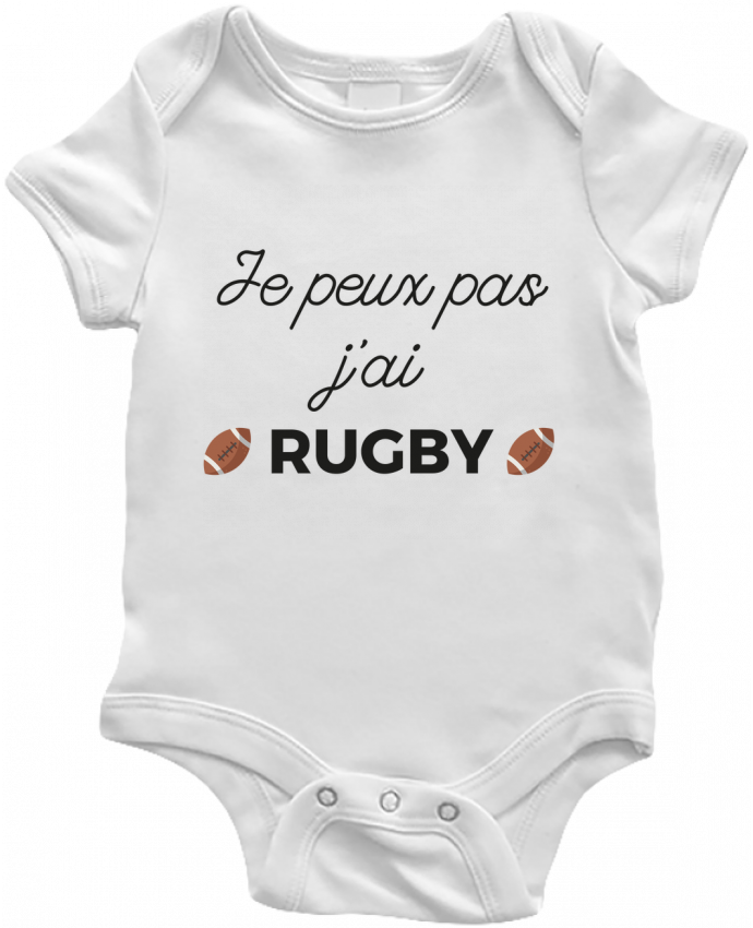 Body Bébé Je peux pas j'ai Rugby par Ruuud