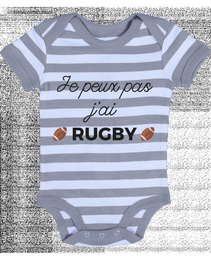Body Bébé à Rayures Je peux pas j'ai Rugby - Ruuud