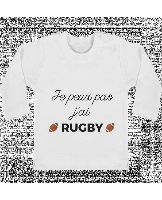 T-shirt Bébé Manches Longues Boutons Pression Je peux pas j'ai Rugby manches longues du designer Ruuud