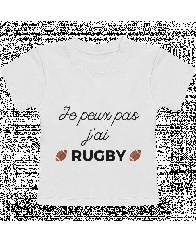 T-Shirt Bébé Manches Courtes Je peux pas j'ai Rugby manches courtes du designer Ruuud