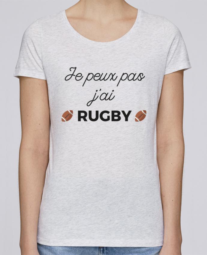 T-shirt Femme Stella Loves Je peux pas j'ai Rugby par Ruuud