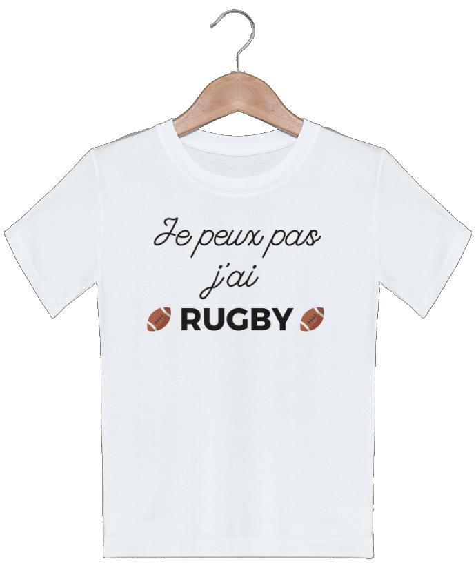 T-shirt garçon motif Je peux pas j'ai Rugby Ruuud