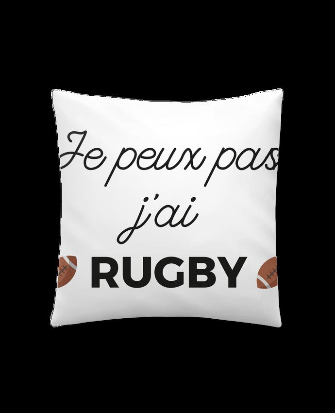 Coussin Synthétique Doux 41 x 41 cm Je peux pas j'ai Rugby par Ruuud