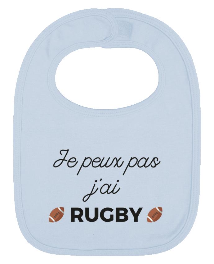 Bavoir Uni et Contrasté Je peux pas j'ai Rugby par Ruuud