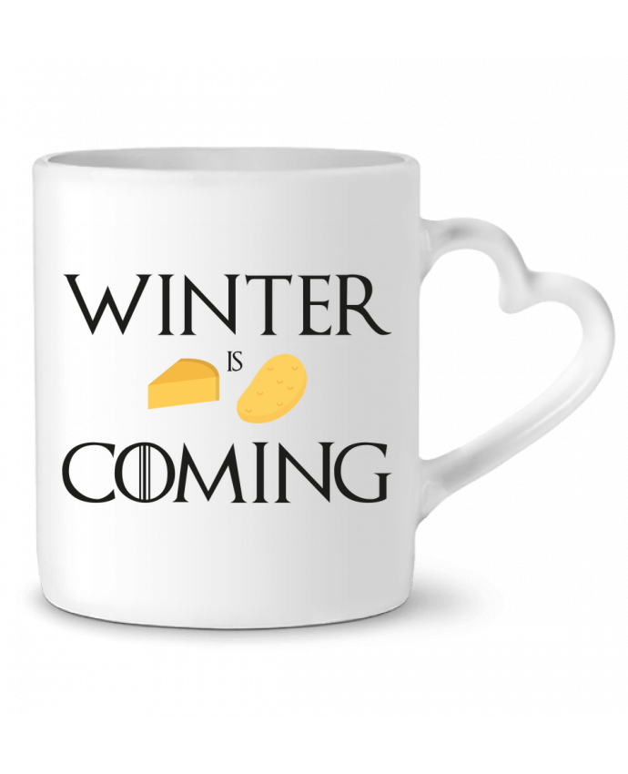 Mug Coeur Winter is coming par Ruuud