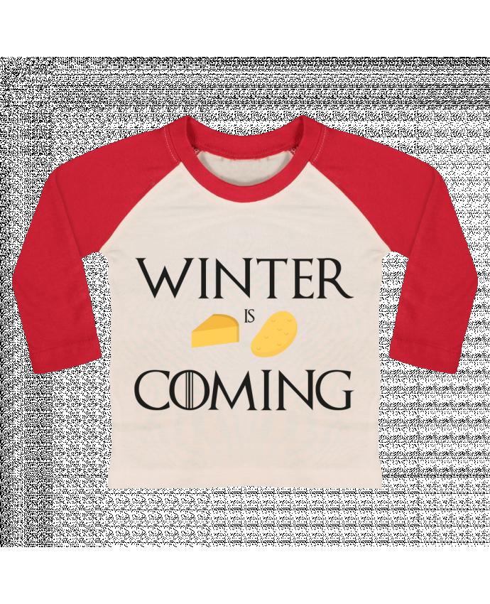 T-shirt Bébé Baseball Manches Longues Winter is coming par Ruuud