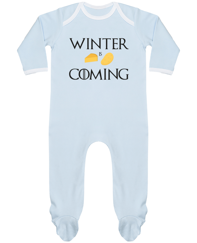 Pyjama Bébé Manches Longues Contrasté Winter is coming par Ruuud