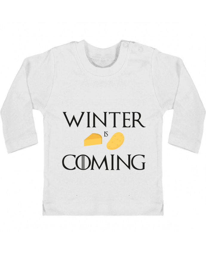 T-shirt Bébé Manches Longues Boutons Pression Winter is coming manches longues du designer Ruuud