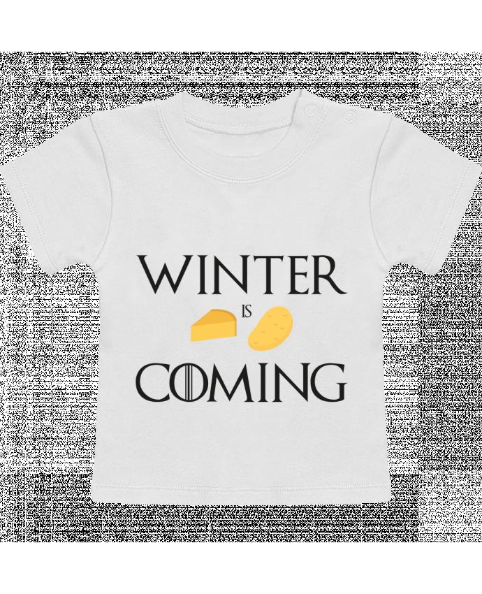 T-Shirt Bébé Manches Courtes Winter is coming manches courtes du designer Ruuud