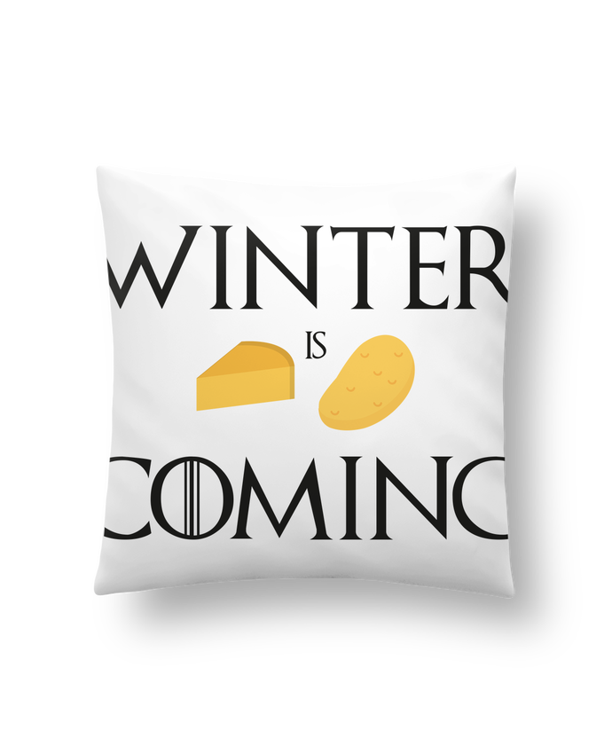 Coussin Synthétique Doux 41 x 41 cm Winter is coming par Ruuud