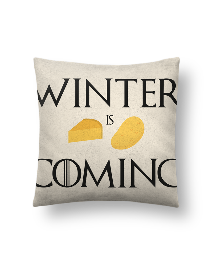 Coussin Toucher Peau de Pêche 41 x 41 cm Winter is coming par Ruuud