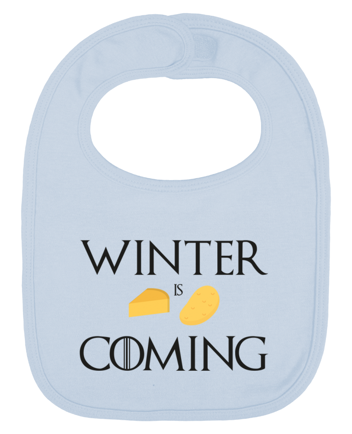 Bavoir Uni et Contrasté Winter is coming par Ruuud