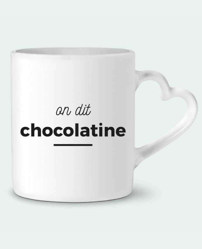 Mug Coeur On dit chocolatine par Ruuud