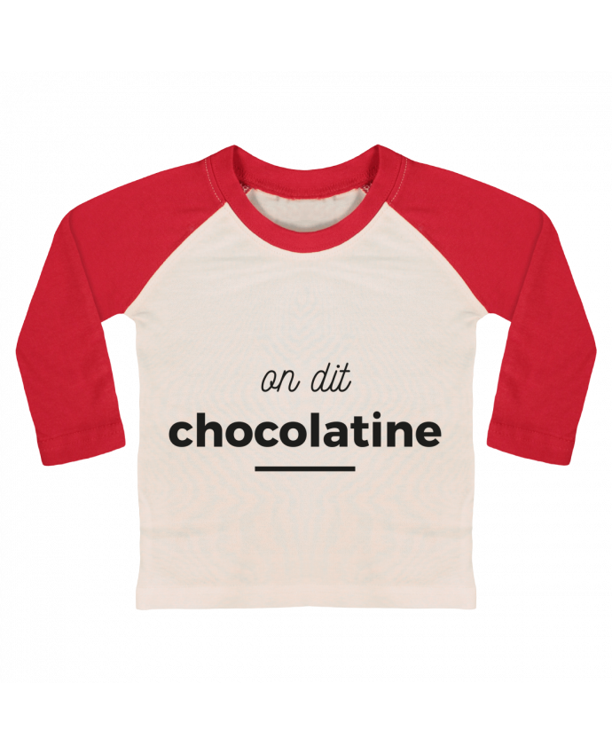 T-shirt Bébé Baseball Manches Longues On dit chocolatine par Ruuud