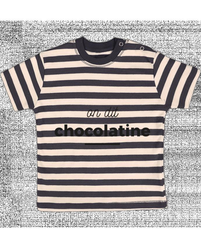 T-shirt Bébé à Rayures On dit chocolatine par Ruuud