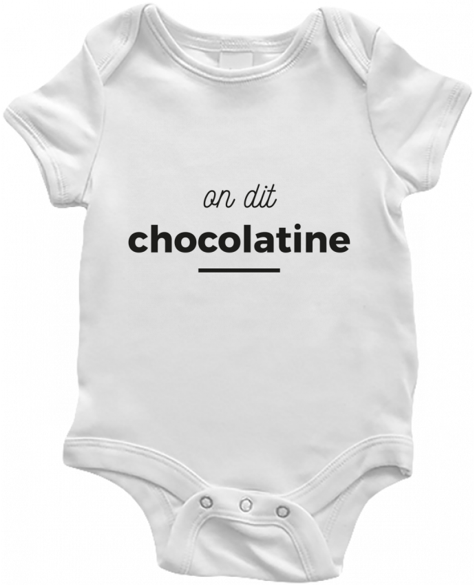 Body Bébé On dit chocolatine par Ruuud