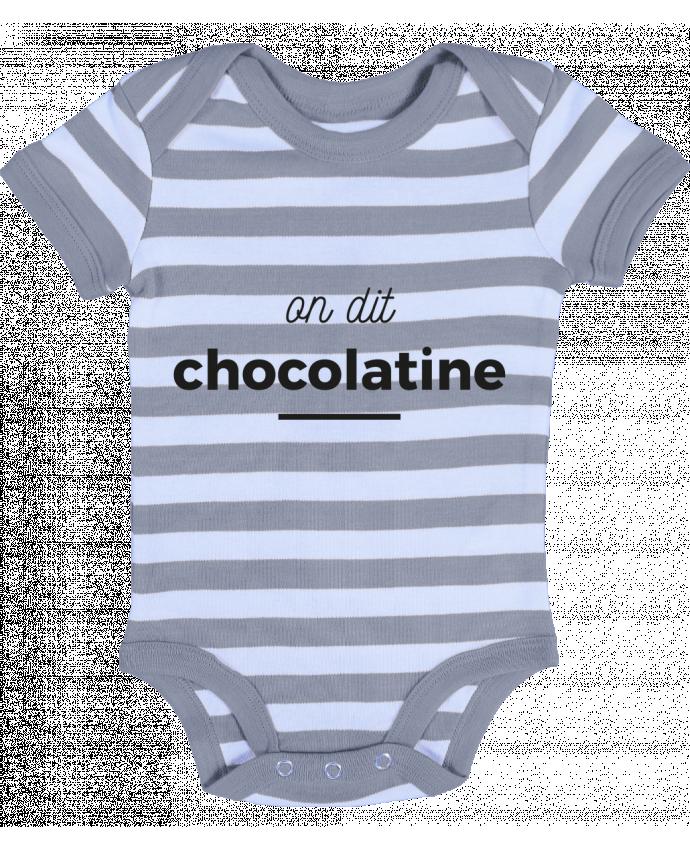 Body Bébé à Rayures On dit chocolatine - Ruuud