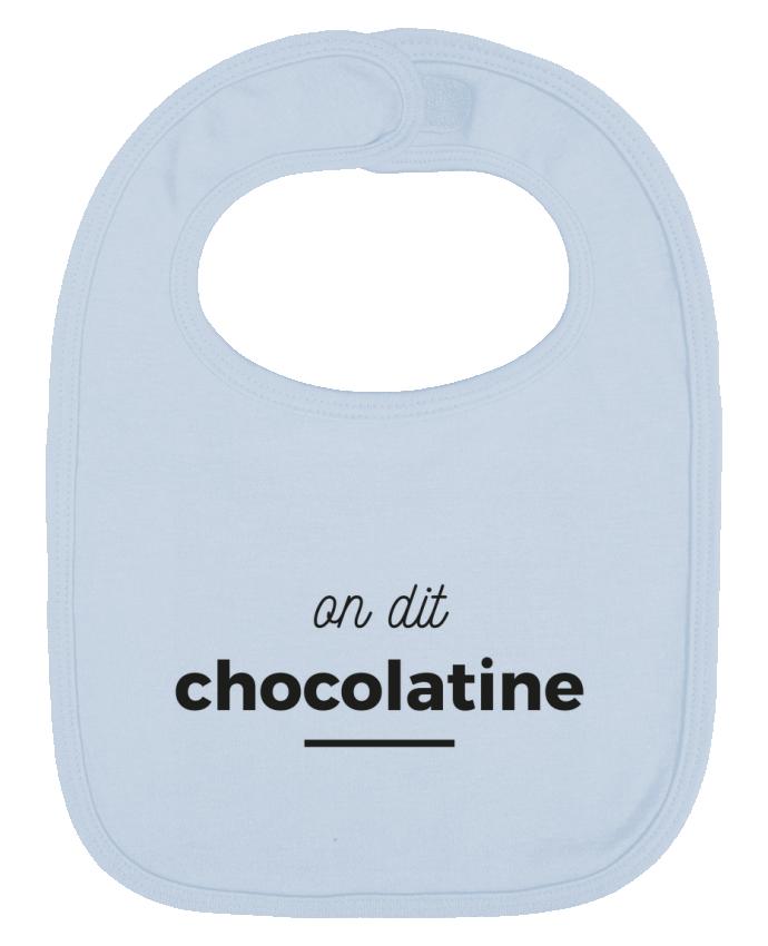 Bavoir Uni et Contrasté On dit chocolatine par Ruuud