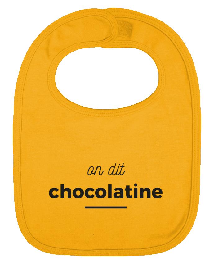 Bavoir bébé uni On dit chocolatine par Ruuud