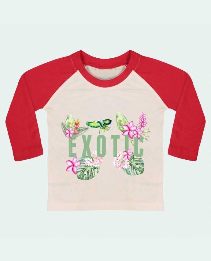 Tee-shirt Bébé Baseball ML Exotic par Les Caprices de Filles