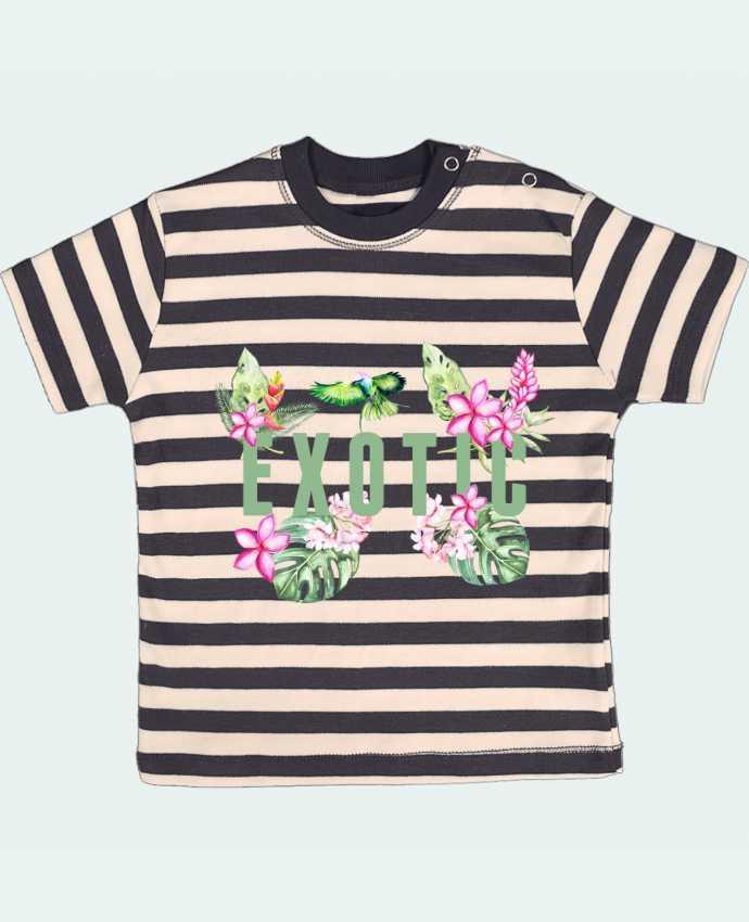 T-shirt Bébé à Rayures Exotic par Les Caprices de Filles