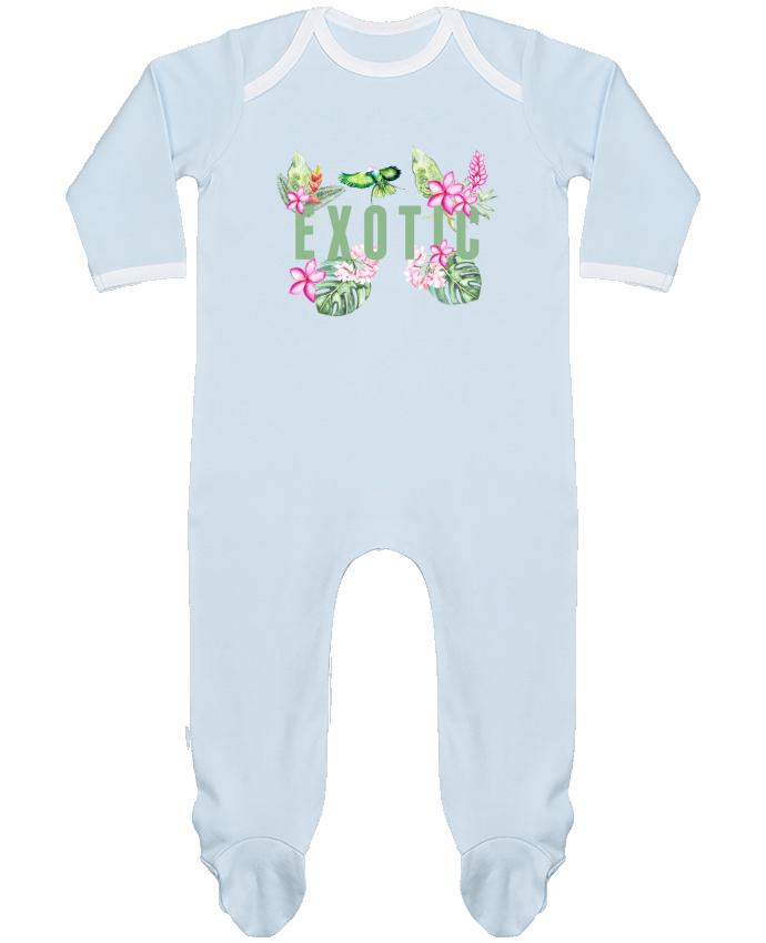 Pyjama Bébé Manches Longues Contrasté Exotic par Les Caprices de Filles