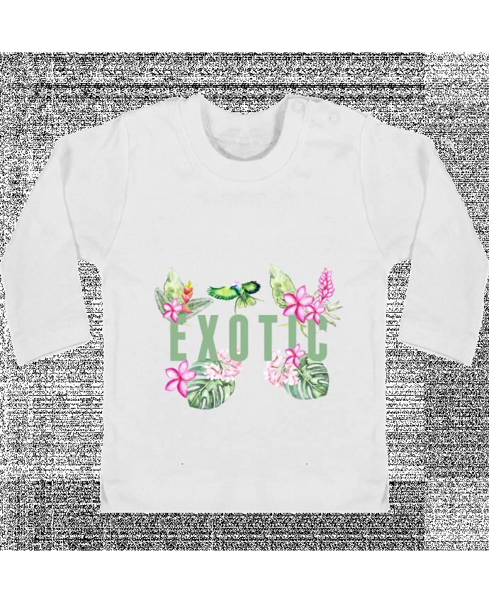 T-shirt bébé Exotic manches longues du designer Les Caprices de Filles