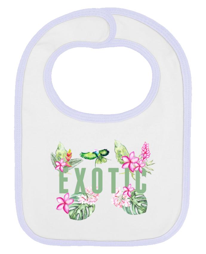 Bavoir bébé uni Exotic par Les Caprices de Filles