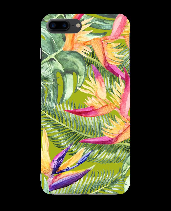 Coque 3D Iphone 7+ Fleurs exotiques par Les Caprices de Filles