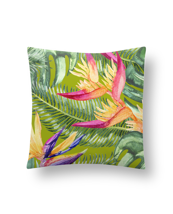 Coussin Synthétique Doux 41 x 41 cm Fleurs exotiques par Les Caprices de Filles