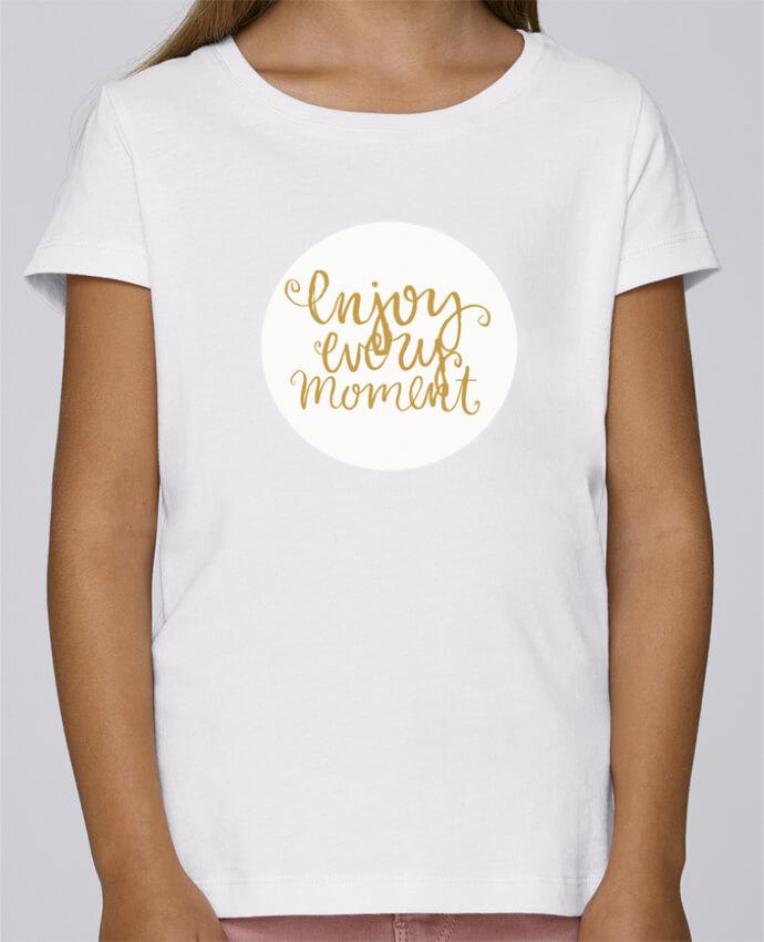 T-shirt Fille Mini Stella Draws Enjoy every moment par Les Caprices de Filles
