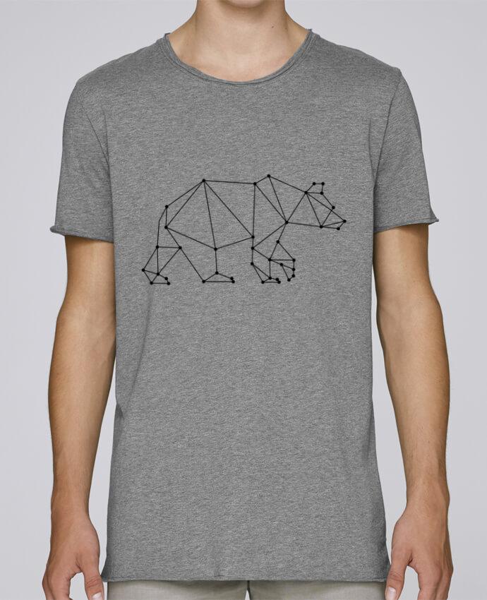 T-shirt Homme Oversized Stanley Skates Bear origami par /wait-design