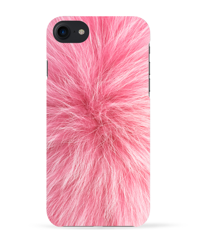 coque iphone 7 fourrure rose