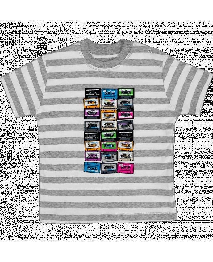T-shirt Bébé à Rayures My First Playlist par PDT