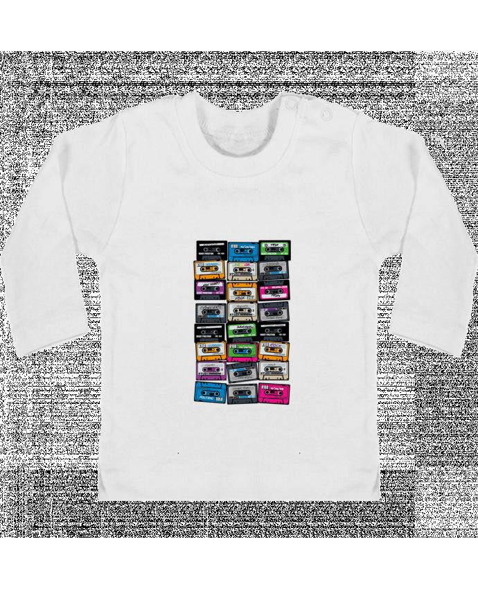 T-shirt Bébé Manches Longues Boutons Pression My First Playlist manches longues du designer PDT